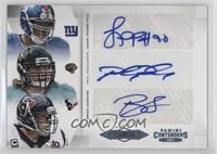 Brian Cushing, Jason Pierre-Paul, Paul Posluszny /5