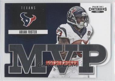 2012 Panini Contenders MVP Contenders #3 - Arian Foster