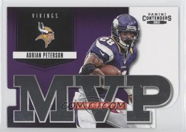 2012 Panini Contenders MVP Contenders #9 - Adrian Peterson