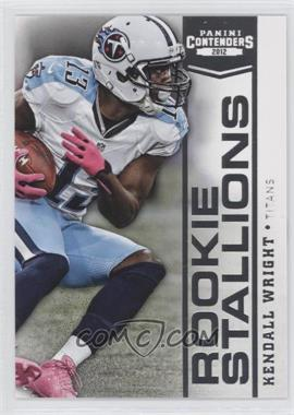2012 Panini Contenders Rookie Stallions #6 - Kendall Wright