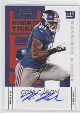 2012 Panini Contenders #102 - Rookie Ticket - Adrien Robinson