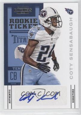 2012 Panini Contenders #119 - Rookie Ticket - Coty Sensabaugh