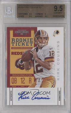 2012 Panini Contenders #155 - Rookie Ticket - Kirk Cousins [BGS 9.5]