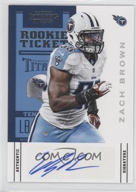 2012 Panini Contenders #199 - Rookie Ticket - Zach Brown