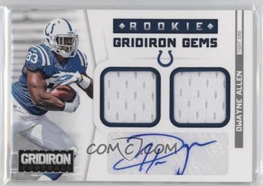 2012 Panini Gridiron - Rookie Gridiron Gems - Combo Materials Signatures [Autographed] #303 - Dwayne Allen /49