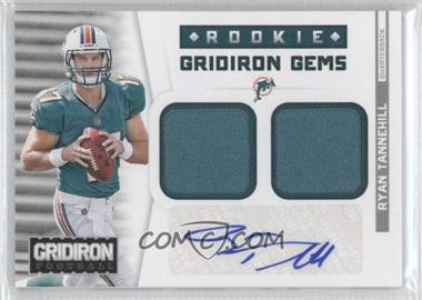 2012 Panini Gridiron - Rookie Gridiron Gems - Combo Materials Signatures [Autographed] #317 - Ryan Tannehill /49