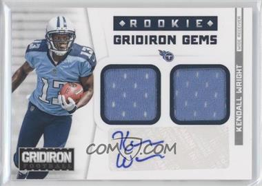2012 Panini Gridiron - Rookie Gridiron Gems - Combo Materials Signatures [Autographed] #318 - Kendall Wright /49