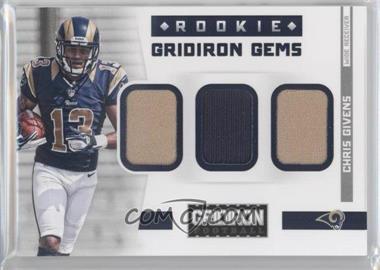 2012 Panini Gridiron - Rookie Gridiron Gems - Trios Materials [Memorabilia] #12 - Chris Givens /199