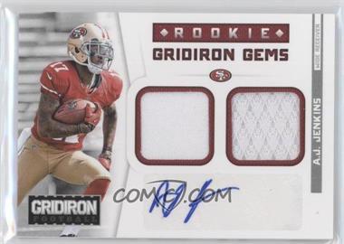 2012 Panini Gridiron Rookie Gridiron Gems Combo Materials Signatures [Autographed] #17 - A.J. Jenkins