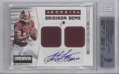 2012 Panini Gridiron Rookie Gridiron Gems Combo Materials Signatures [Autographed] #301 - Robert Griffin III /49 [BGS 9]