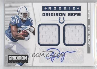 2012 Panini Gridiron Rookie Gridiron Gems Combo Materials Signatures [Autographed] #303 - Dwayne Allen /49