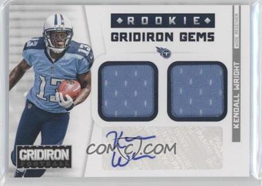 2012 Panini Gridiron Rookie Gridiron Gems Combo Materials Signatures [Autographed] #318 - Kendall Wright /49