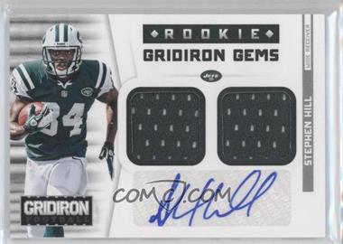 2012 Panini Gridiron Rookie Gridiron Gems Combo Materials Signatures [Autographed] #334 - Stephen Hill /49