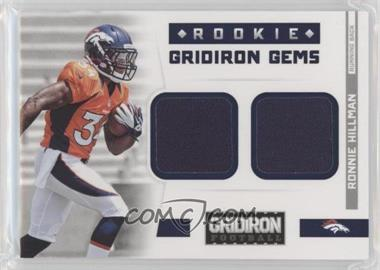 2012 Panini Gridiron Rookie Gridiron Gems Combo Materials #310 - Ronnie Hillman /249