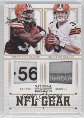 2012 Panini National Treasures NFL Gear Combo Player Prime #2 - Brandon Weeden, Trent Richardson /49