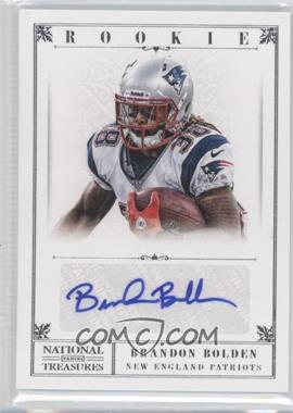 2012 Panini National Treasures #210 - Brandon Bolden /99