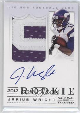 2012 Panini National Treasures #334 - Jarius Wright /99