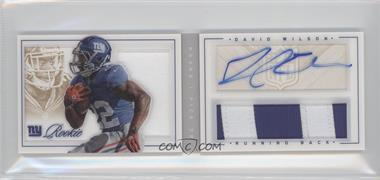 2012 Panini Playbook - [Base] - Gold #185 - David Wilson /49