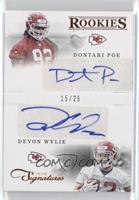 Combo Rookie Signatures - Devon Wylie, Dontari Poe /25