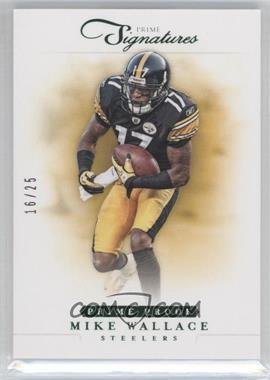 2012 Panini Prime Signatures Prime Proof Green #44 - Mike Wallace /25