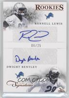 Combo Rookie Signatures - Bill Bentley, Ronnell Lewis /25