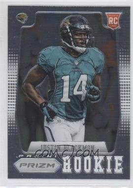 2012 Panini Prizm #217.1 - Justin Blackmon (short print: running to the left)