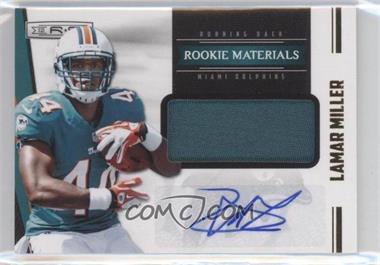 2012 Panini Rookies & Stars - [Base] - Rookie Materials Prime Signatures [Autographed] #237 - Lamar Miller /49