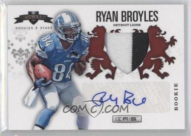 2012 Panini Rookies & Stars Rookie Crusade Red Materials Prime Signatures [Autographed] #13 - Ryan Broyles /25