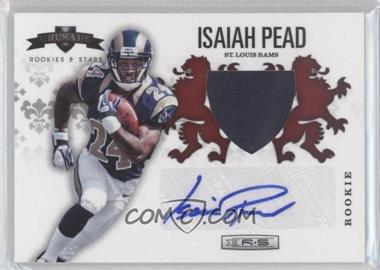 2012 Panini Rookies & Stars Rookie Crusade Red Materials Signatures [Autographed] #30 - Isaiah Pead /49