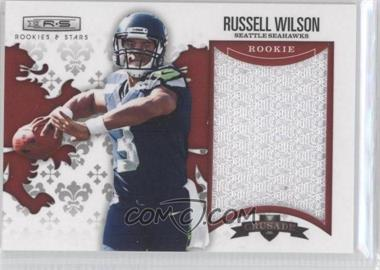 2012 Panini Rookies & Stars Rookie Crusade Red Materials #5 - Russell Wilson /199
