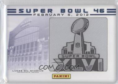 2012 Panini Super Bowl Manufactured Patches - [???] #N/A - Lucas Oil Stadum