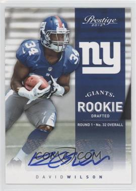 2012 Playoff Prestige - [Base] - Rookie Signatures [Autographed] #244 - David Wilson /499