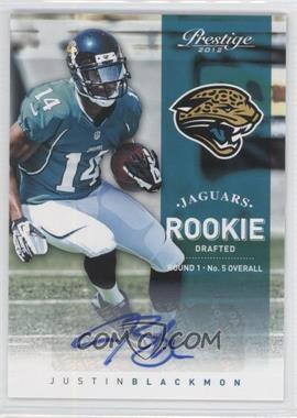 2012 Playoff Prestige - [Base] - Rookie Signatures [Autographed] #270 - Justin Blackmon /299
