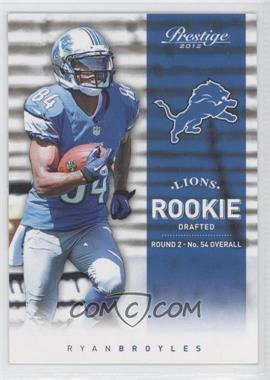 2012 Playoff Prestige - [Base] #292 - Ryan Broyles