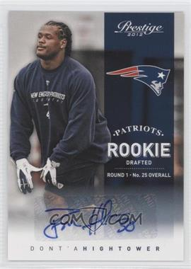 2012 Playoff Prestige Rookie Signatures [Autographed] #215 - Dont'a Hightower /499