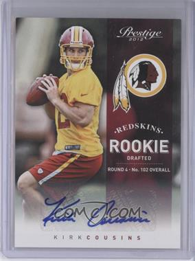 2012 Playoff Prestige Rookie Signatures [Autographed] #235 - Kirk Cousins /299