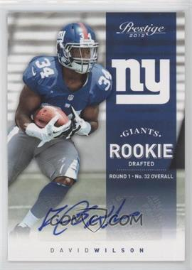 2012 Playoff Prestige Rookie Signatures [Autographed] #244 - David Wilson /499