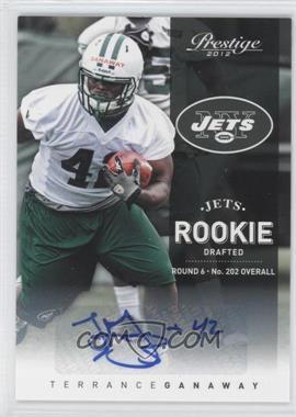 2012 Playoff Prestige Rookie Signatures [Autographed] #257 - Terrance Ganaway /645