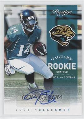 2012 Playoff Prestige Rookie Signatures [Autographed] #270 - Justin Blackmon /299