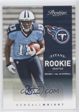 2012 Playoff Prestige Rookie Signatures [Autographed] #271 - Kendall Wright /499