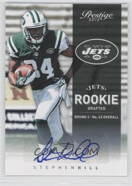 2012 Playoff Prestige Rookie Signatures [Autographed] #276 - Stephen Hill /183