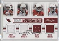 Andre Roberts, Larry Fitzgerald, Beanie Wells, Early Doucet III /249