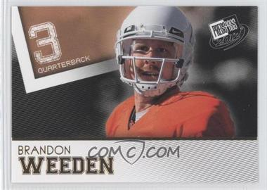 2012 Press Pass - [Base] - Gold #48 - Brandon Weeden