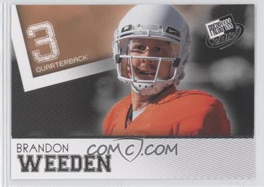 2012 Press Pass [???] #48 - Brandon Weeden