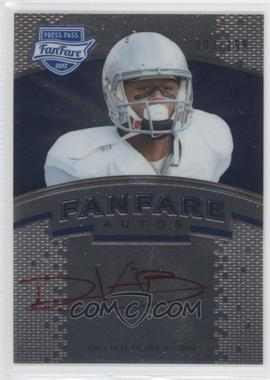 2012 Press Pass Fanfare - [Base] - Blue Red Ink #FF-2 - DeVier Posey /199