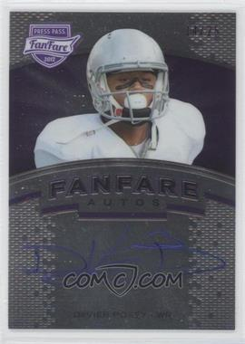 2012 Press Pass Fanfare - [Base] - Violet #FF-DP2 - DeVier Posey /25