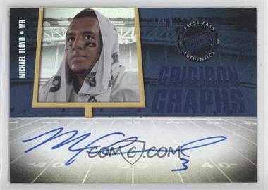 2012 Press Pass Fanfare - Gridiron Graphs - Blue #GG-MF - Michael Floyd /50