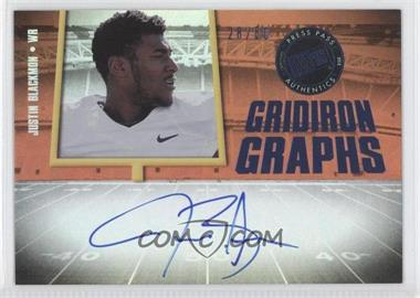2012 Press Pass Fanfare Gridiron Graphs Blue #GG-JB - Justin Blackmon /50