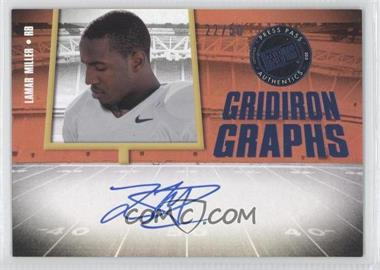 2012 Press Pass Fanfare Gridiron Graphs Blue #GG-LM - Lamar Miller /50