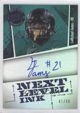 2012 Press Pass Fanfare Next Level Ink Blue #NLI-LJ - LaMichael James /50